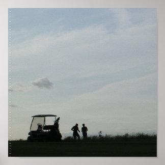 Golf at Dusk  Poster