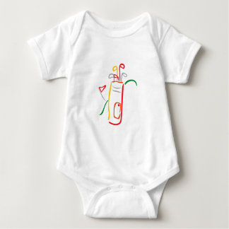 Golf Bag and Green Baby Bodysuit