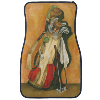 Golf Bag with Glove by Jennifer Goldberger Car Mat