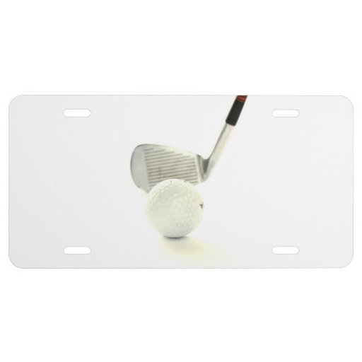 Golf Ball and Club License Plate
