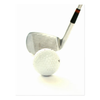 Golf Ball and Club Postcard