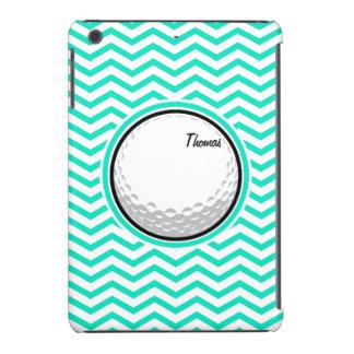 Golf Ball Aqua Green Chevron iPad Mini Covers