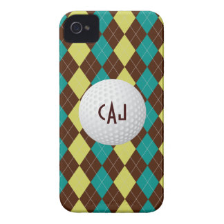 Golf Ball, Argyle Plaid monogram iPhone 4/4s Case-Mate iPhone 4 Case