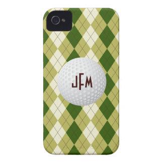 Golf Ball, Argyle Plaid monogram iPhone 4/4s iPhone 4 Case