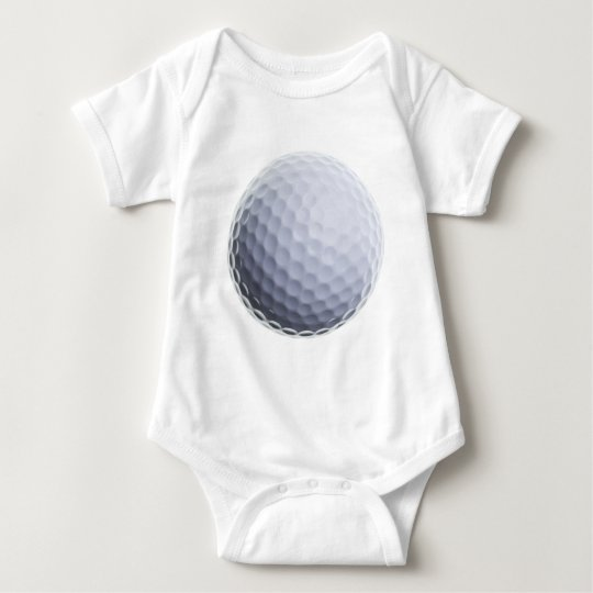 Golf Ball Background Customized Template Baby Bodysuit