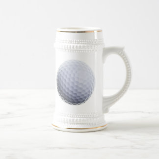 Golf Ball Background Customized Template Beer Stein