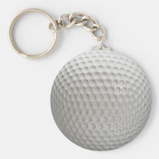 Golf Ball Basic Round Button Keychain