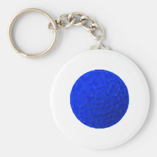 Golf Ball Blue The MUSEUM Zazzle Gifts Keychain