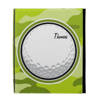 Golf Ball bright green camo camouflage iPad Folio Cases