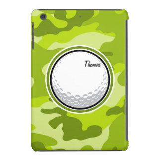 Golf Ball bright green camo camouflage iPad Mini Retina Covers