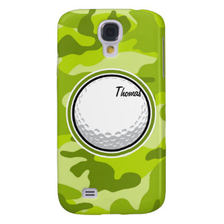 Golf Ball bright green camo camouflage Samsung Galaxy S4 Covers