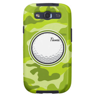 Golf Ball bright green camo camouflage Galaxy SIII Covers