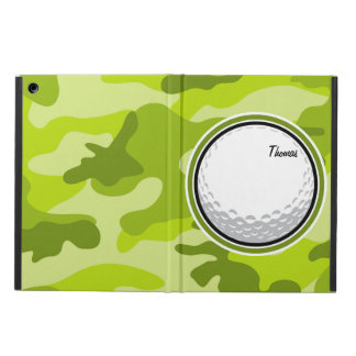 Golf Ball bright green camo camouflage Cover For iPad Air
