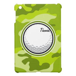 Golf Ball bright green camo camouflage iPad Mini Covers