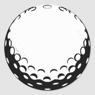 GOLF BALL CLASSIC ROUND STICKER