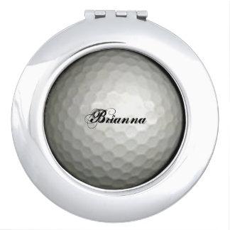 Golf Ball Compact Mirror