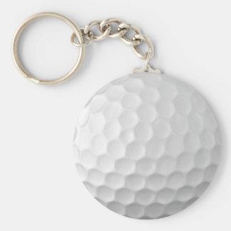 Golf Ball Dimples Texture Pattern 2 Basic Round Button Keychain