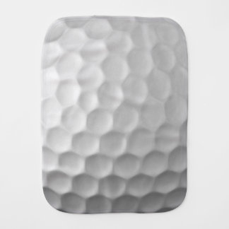 Golf Ball Dimples Texture Pattern Burp Cloth