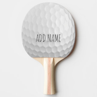 Golf Ball Dimples with Custom Name Ping Pong Paddle