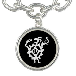 Golf Ball Eater Petroglyph Charm Bracelet