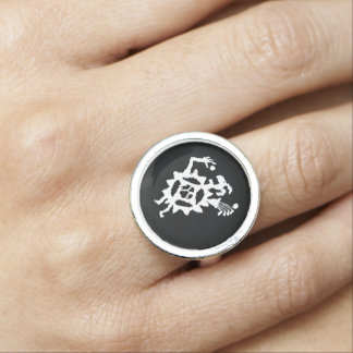 Golf Ball Eater Petroglyph Ring