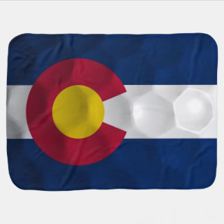 Golf Ball Flag of Colorado Baby Blanket