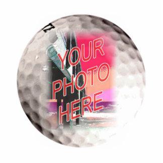 Golf Ball Frame Template Standing Photo Sculpture