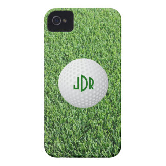 Golf Ball, Green grass monogram iPhone 4/4s Case-Mate iPhone 4 Cases
