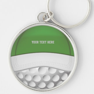 Golf  Ball Hat Keychain