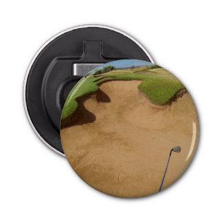 Golf Ball In Bunker, Magnetic Bottle Opener. Bottle Opener
