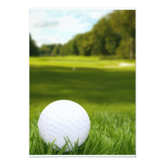 Golf Ball In Grass Card