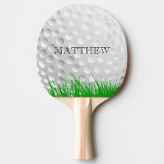 Golf ball in Grass Personalized Ping Pong Paddle