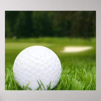 Golf Ball In Grass Poster
