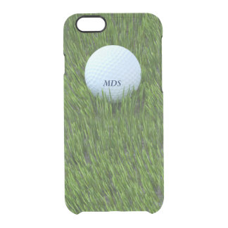 Golf Ball in the Rough Personalized Clear iPhone 6/6S Case