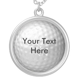 Golf Ball Message Pendant & Chain