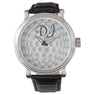 Golf ball, monogram, wrist watches
