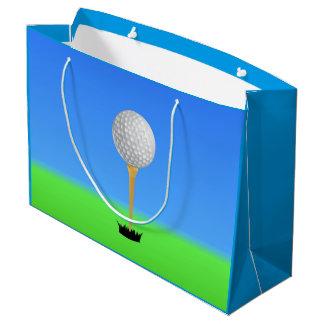 Golf Ball on a Tee Large Gift Bag