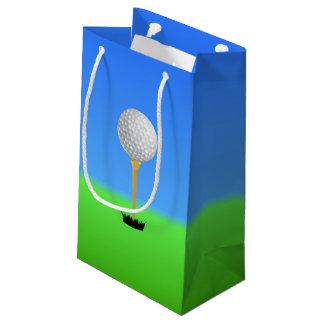 Golf Ball on a Tee Small Gift Bag
