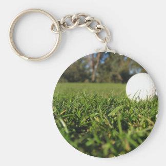 Golf Ball on Golf Course Keychain