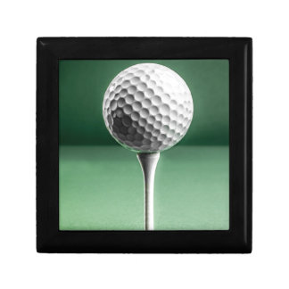 Golf Ball on Tee Jewelry Boxes
