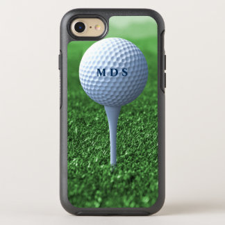 Golf Ball on Tee Monogram Otterbox for Golfers OtterBox Symmetry iPhone 7 Case