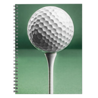 Golf Ball on Tee Notebook
