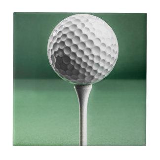 Golf Ball on Tee Tile