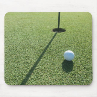Golf ball on the Green Mouse Pad