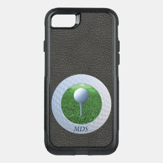 Golf Ball Otterbox Photo Frame Monogram OtterBox Commuter iPhone 8/7 Case