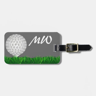 Golf ball personalized golfer travel bag tag