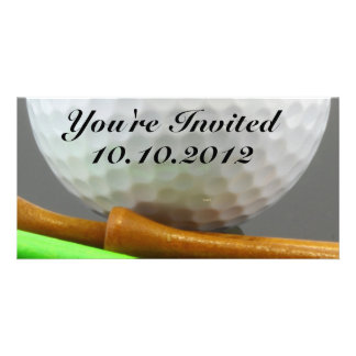Golf Ball Photo Card Template