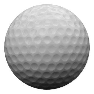 """Golf Ball Photo Design 5.25"""" Square Invitation Card"""