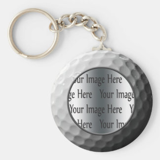 golf ball photo keychain