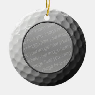 golf ball photo ornament